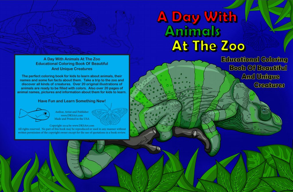 A Day With Animals At The Zoo Coloring Book – DKS Art