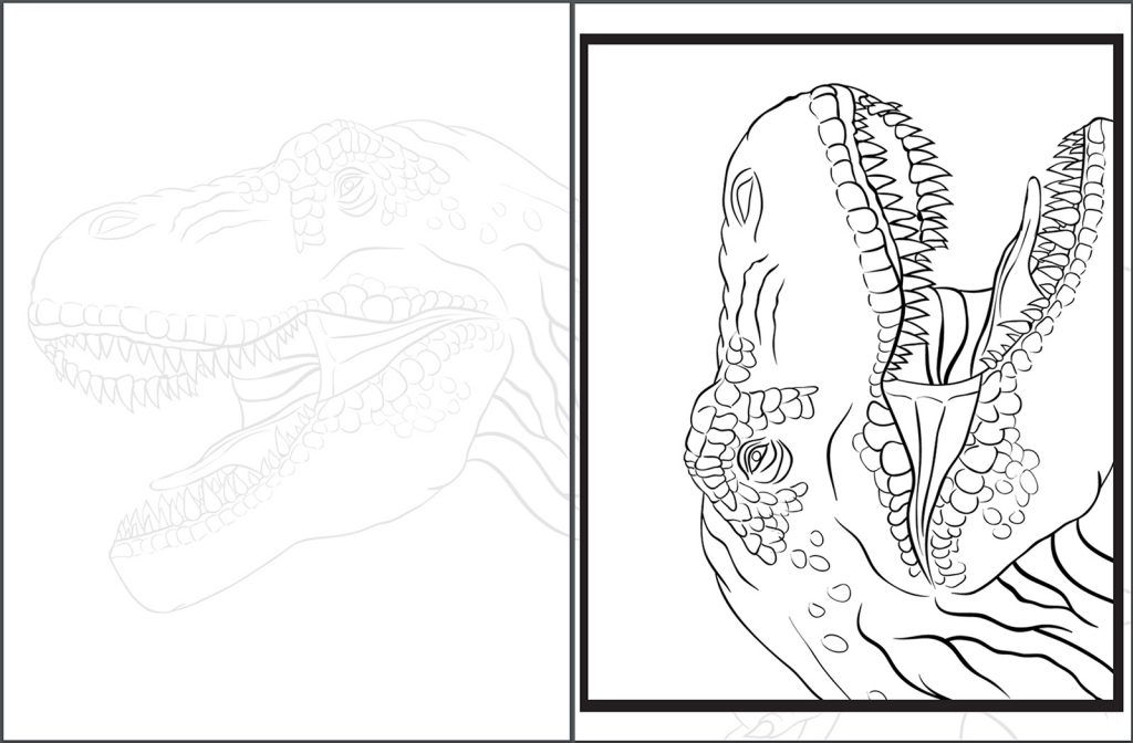 Make A Giant Poster Dinosaur Coloring Book Tyrannosaurus